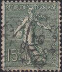France Sower 15 centimes postage stamp