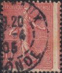 France Sower 10 centimes perforation shift