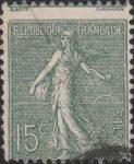 France Sower 15 centimes perforation shift