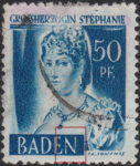 Germany French Occupation Zone Baden 1948 postage stamp error: White dot on first vertical stroke of letter N in BADEN
