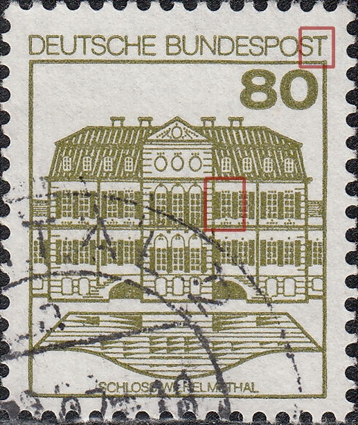 Germany Varieties Of Postage Stamps Palaces And Castles
