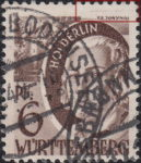 Germany Wuerttemberg postage stamp error Hoelderlin dotted lines