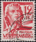 Germany Wuerttemberg postage stamp error:  Curved part of numeral 2 enclosed.
