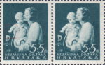 Croatia 1942 charity postage stamp plate flaw: white circle on baby's left hand
