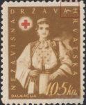 Croatia 1942 Dalmatia Red Cross stamp error