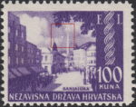 Croatia 1942 Philatelic Exhibition postage stamp error