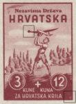 Croatia 1942 souvenir sheet type designer mark V