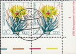 GDR 1983 Cactus plant Leuchtenbergia principis postage stamp plate flaw Spine in the upper right corner broken.