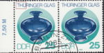 GDR 1983 Glass of Thuringia postage stamp plate flaw Colored dot on letter H of THÜRINGER.