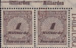 Germany 1923 inflation 1 milliard postage stamp flaw