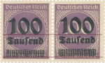 Germany Weimar Republic inflation postage stamp overprint error