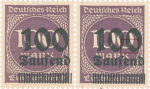 Germany 1923 inflation postage stamp overprint flaw