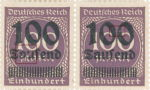 Germany Reich inflation postage stamp overprint flaw