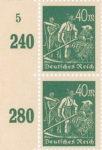 Germany postage stamp sheet element Side value summation Summierungszahl plate number Plattennummer