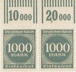 Germany postage stamp sheet element rotary print column value summation Walzendruck Reihenwertzahlen
