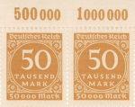 Germany postage stamp sheet element plate print column value summation Plattendruck Reihenwertzahlen