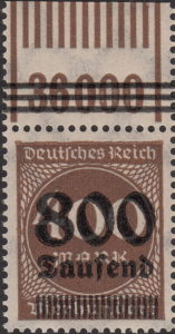 Germany inflation postage stamp OPD Breslau Munich