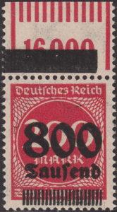 Germany inflation postage stamp OPD Erfurt Frankfurt Königsberg Münster
