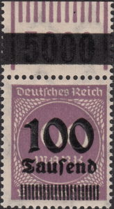 Germany inflation postage stamp OPD Frankfurt