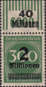 Germany inflation postage stamp OPD Leipzig