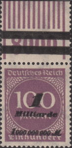 Germany inflation postage stamp OPD Munich