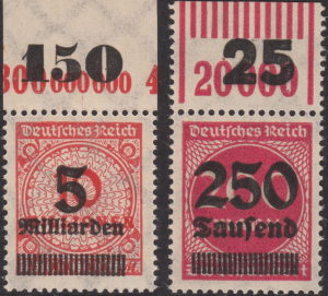 Germany inflation postage stamp OPD Stettin