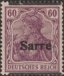 Germany 1920 SARRE postage stamp overprint error shifted overprint