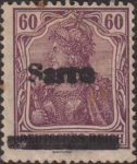 Germany 1920 SARRE postage stamp overprint error deformed overprint