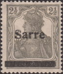 Germany 1920 SARRE postage stamp overprint flaw letter S deformed