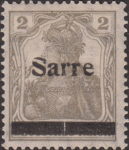 Germany 1920 SARRE postage stamp overprint flaw letter r damaged letter S broken