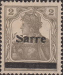 Germany 1920 SARRE postage stamp overprint flaw letter S damaged on top