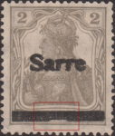 Germany 1920 SARRE postage stamp overprint error A