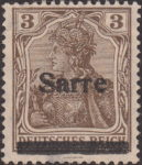 Germany 1920 SARRE postage stamp overprint error B
