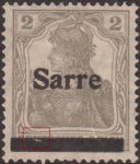 Germany 1920 SARRE postage stamp overprint error crack in canceling bar