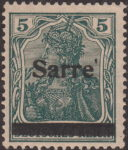 Germany 1920 SARRE postage stamp overprint error printing block