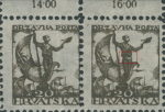 SHS Yugoslavia Croatia 20 filler postage stamp plate flaw: Sailor with white belt