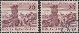 Germany postage stamp Mainz 1962 white window