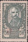 SHS Slovenia 1920 15 krone stamp error broken vertical line