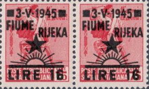 Yugoslavia 1945 Fiume Rijeka postage stamp possible type of overprint