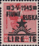 Yugoslavia 1945 provisional postage stamp issue for Rijeka Fiume forged overprint