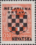 Croatia 1941 stamp overprint error impression