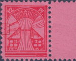 Germany Mecklenburg Vorpommern stamp plate flaw Big colored spot in the middle of the left frame.