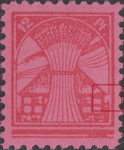 Germany Mecklenburg Vorpommern stamp plate flaw Inner right frame missing at the point where it meets the roof.